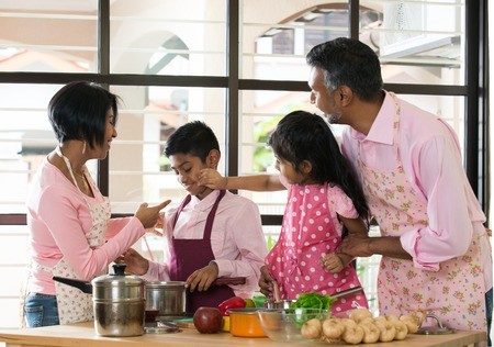 Image result for indian family cooking together